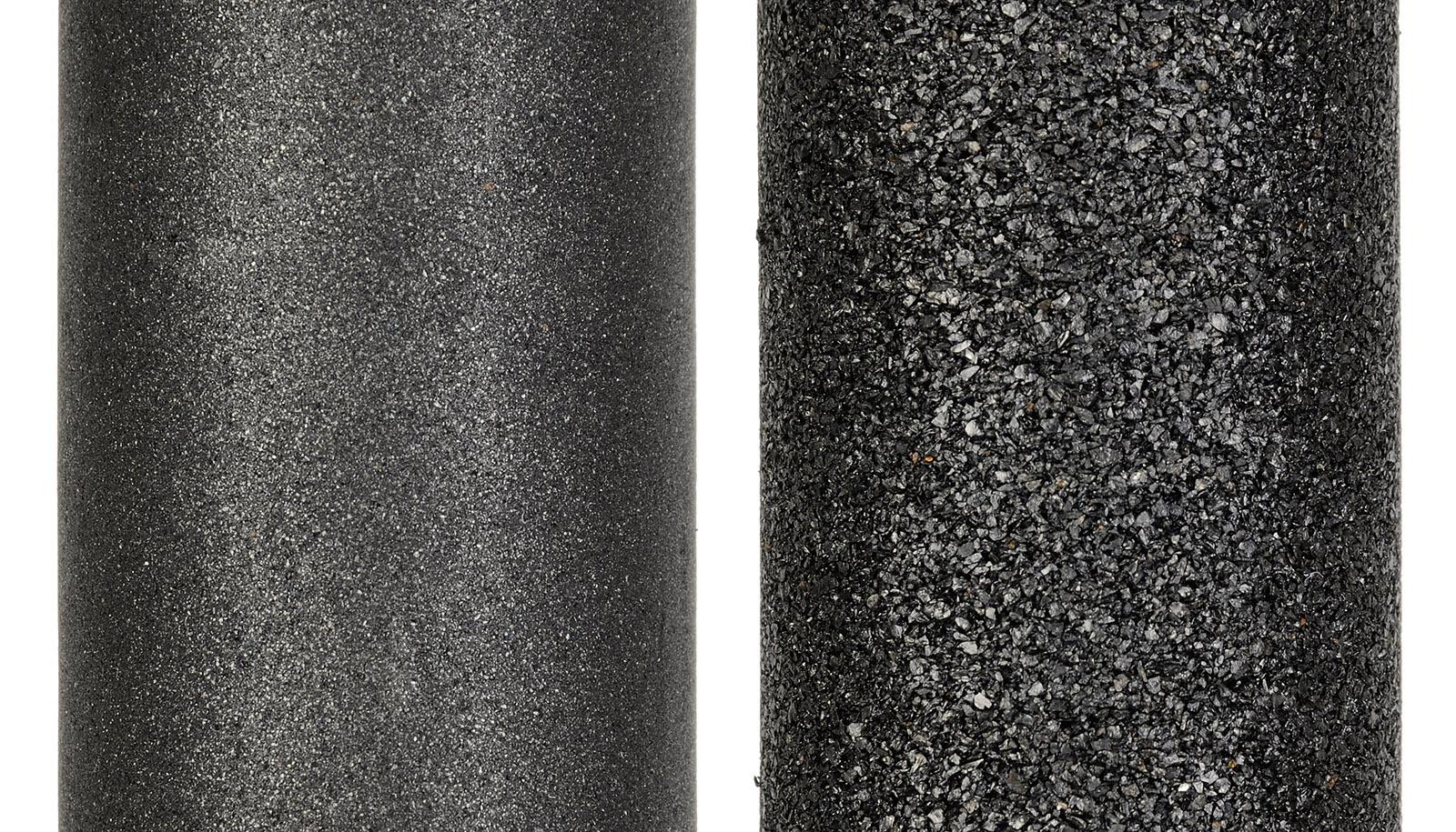 Сравнительное фото карбонблока Prio® Новая Вода® и типичного распространенного на рынке карбонблока
